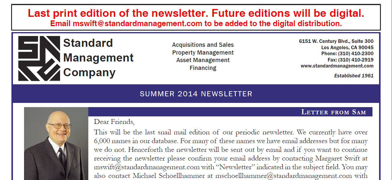 SMC 2014 Summer Newsletter