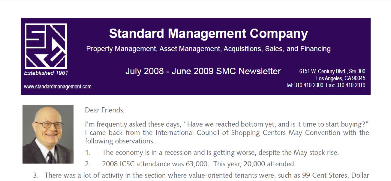 2009 Summer SMC Newsletter